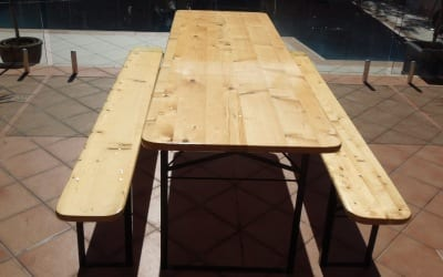 Beer Table Set with wide table